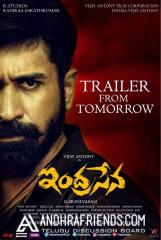 indrasena trailer release poster